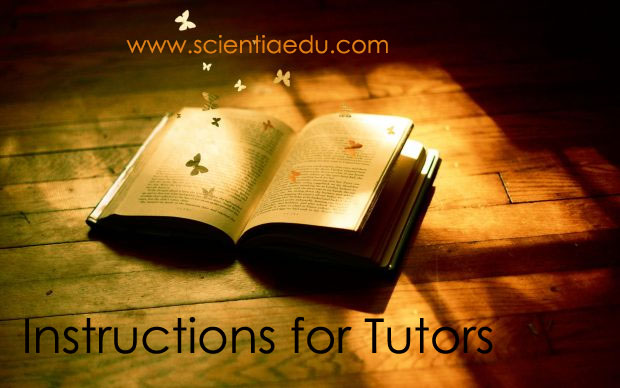 Instructions For Tutors